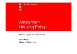 Amsterdam Housing Policy