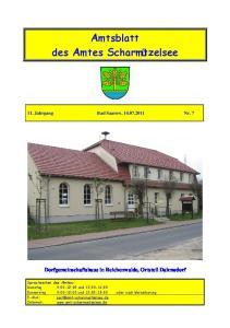 Amtsblatt des Amtes Scharmützelsee