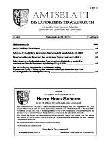 Amtsblatt des Landkreises tirschenreuth