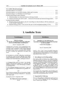 Amtsblatt des Saarlandes vom 15. Oktober 2009