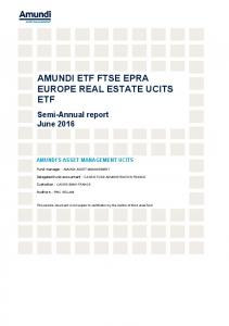 AMUNDI ETF FTSE EPRA EUROPE REAL ESTATE UCITS ETF