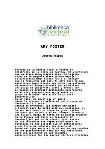 AMY FOSTER JOSEPH CONRAD