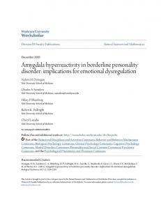 Amygdala hyperreactivity in borderline personality disorder: implications for emotional dysregulation