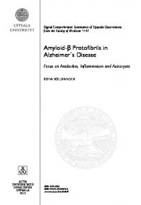 Amyloid-β Protofibrils in Alzheimer s Disease