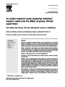 An action-research study exploring midwives support needs and the affect of group clinical supervision