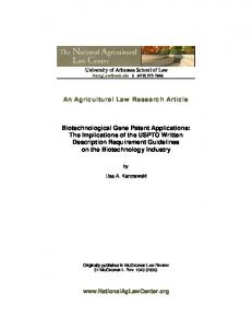 An Agricultural Law Research Article