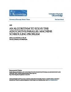AN ALGORITHM TO SOLVE THE ASSOCIATIVE PARALLEL MACHINE SCHEDULING PROBLEM