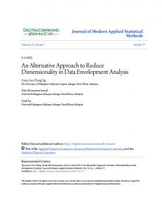 An Alternative Approach to Reduce Dimensionality in Data Envelopment Analysis