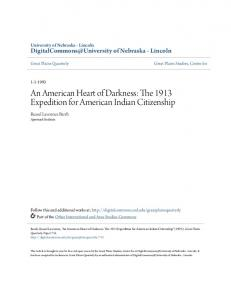 An American Heart of Darkness: The 1913 Expedition for American Indian Citizenship