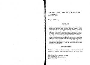 AN ANALYTIC MODEL FOR CREDIT ANALYSIS