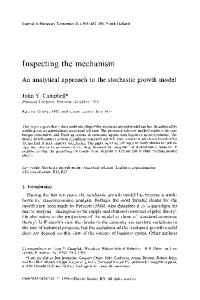 An analytical approach to the stochastic growth model