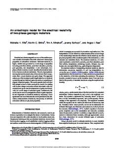 An anisotropic model for the electrical resistivity of two-phase geologic materials