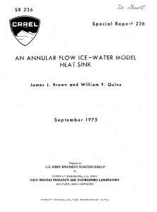 AN ANNULAR FLOW ICE-WATER MODEL HEAT SINK