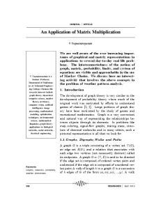 An Application of Matrix Multiplication