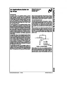 An Applications Guide for Op Amps