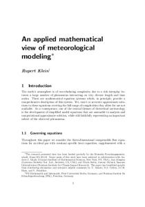 An applied mathematical view of meteorological modeling