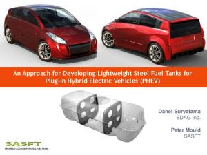 An Approach for Developing Lightweight Steel Fuel Tanks for Plug-In Hybrid Electric Vehicles (PHEV)