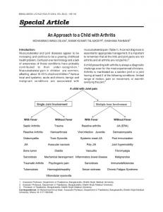 An Approach to a Child with Arthritis