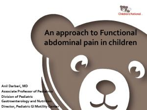 An approach to Functional abdominal pain in children