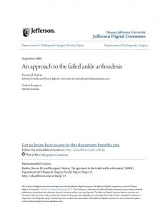 An approach to the failed ankle arthrodesis