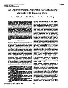 An Approximation Algorithm for Scheduling Aircraft with Holding Time
