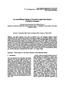An Area-Efficient Design of Variable-Length Fast Fourier Transform Processor