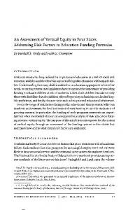 An Assessment of Vertical Equity in Four States: Addressing Risk Factors in Education Funding Formulas