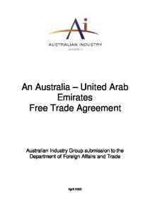 An Australia United Arab Emirates Free Trade Agreement