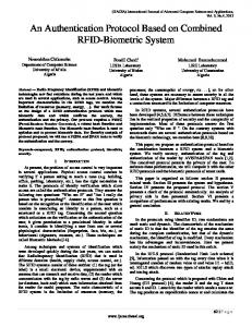 An Authentication Protocol Based on Combined RFID-Biometric System