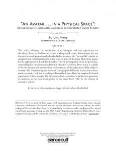 An Avatar... in a Physical Space :