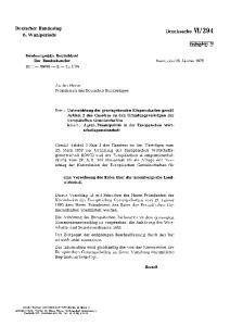 An den Herrn Präsidenten des Deutschen Bundestages