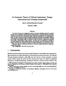 An Economic Theory of Political Institutions: Foreign Intervention and Overseas Investments