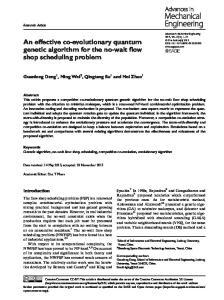 An effective co-evolutionary quantum genetic algorithm for the no-wait flow shop scheduling problem