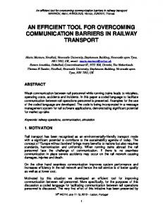 AN EFFICIENT TOOL FOR OVERCOMING COMMUNICATION BARRIERS IN RAILWAY TRANSPORT