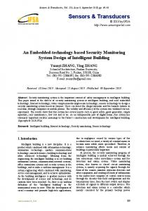 An Embedded-technology-based Security Monitoring System Design of Intelligent Building