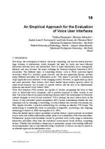 An Empirical Approach for the Evaluation of Voice User Interfaces