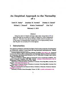 An Empirical Approach to the Normality