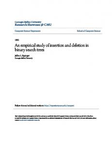 An empirical study of insertion and deletion in binary search trees