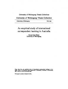 An empirical study of international correspondent banking in Australia
