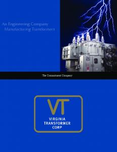 An Engineering Company Manufacturing Transformers. The Commitment Company