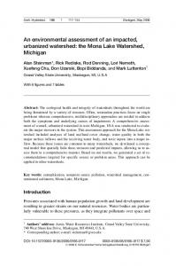 An environmental assessment of an impacted, urbanized watershed: the Mona Lake Watershed, Michigan