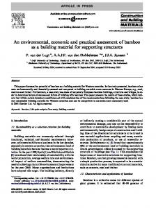 An environmental, economic and practical assessment of bamboo as a building material for supporting structures