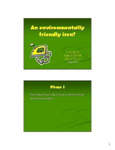 An environmentally friendly iron?