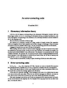 An error-correcting code