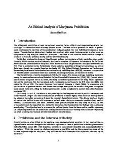 An Ethical Analysis of Marijuana Prohibition