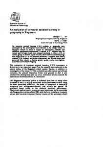 An evaluation of computer assisted learning in geography in Singapore