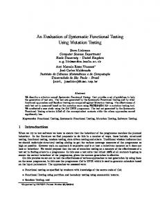 An Evaluation of Systematic Functional Testing Using Mutation Testing