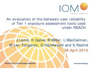 An evaluation of the between-user reliability of Tier 1 exposure assessment tools used under REACH