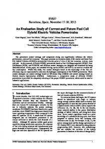 An Evaluation Study of Current and Future Fuel Cell Hybrid Electric Vehicles Powertrains