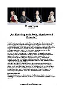 An Evening with Rota, Morricone & Friends